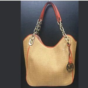 Michael Kors Medium Soft Straw Tote